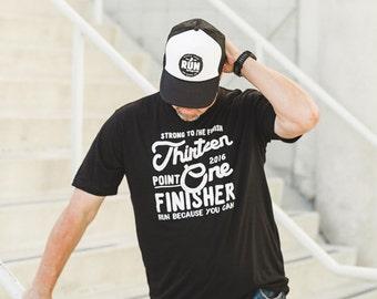 Half Marathon Finisher Tee 13.1 //  2016 Miles and Pace