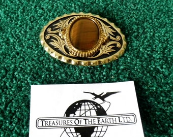 Tiger Eye Belt Buckle - Cut and polished - Hand made