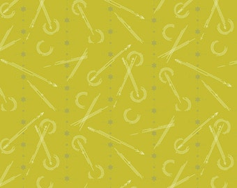 Seventy-Six by Alison Glass Numbered in Grasshopper A-8449-V cotton fabric andover modern material quilting supplies green