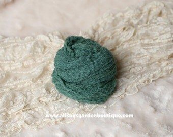 Dark Green Forest Green Pine Green-  Newborn St. Patricks Day Photography Prop Cheesecloth Swaddle Wrap