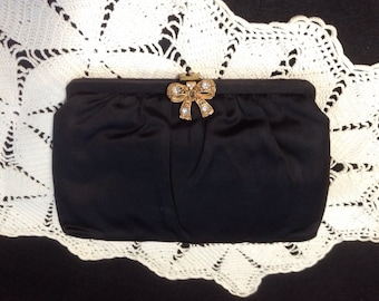 Vintage Saks 5th Avenue Black Evening Bag