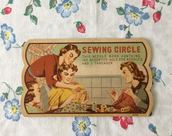 1940's Sewing Circle Needle Book