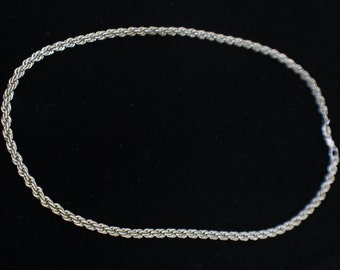 Lang Sterling Silver Twisted Chain, Sterling Silver Chain, 925