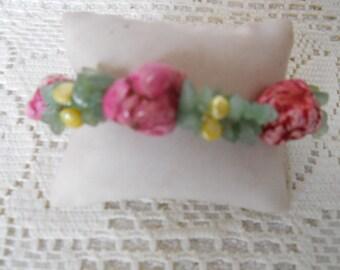 Jade Pearl Spike Cameleian Bracelet #958