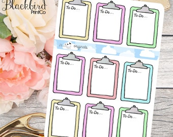 Clipboards - Hand Drawn Planner Stickers [FR0017]