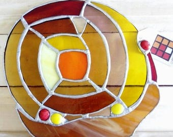 Snail SPIRAL STAIRCASE window glass