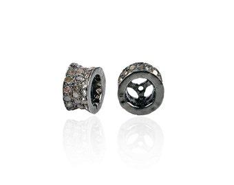SDC-1268 concave barrel shape Bead diamond charm