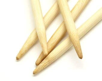 Bamboo double pointed needles 5.0 in 20 cm length