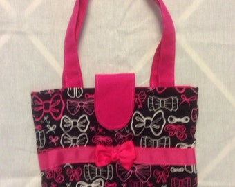 Black and Bows Little Bling Bag
