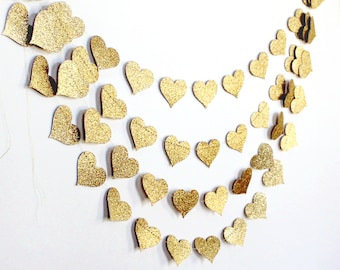 Bachelorette Party Decorations - Custom Colors - Bachelorette Party - Glitter Hearts