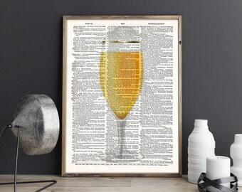 Beer, Beer print, Beer art, Beer Poster, Beer Art Print, Wall Decor, Beer Dictionary Print, Digital Download, Printable art, Dictionary art