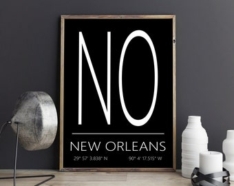 New Orleans Wall Decor new orleans poster | etsy
