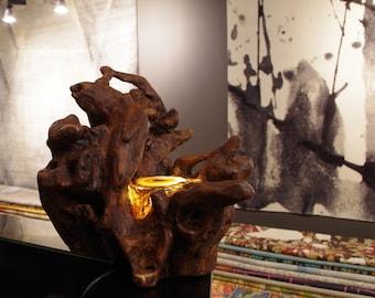 """Driftwood decorations Treibholz lamp sculpture Driftwood """"Sali"""""""