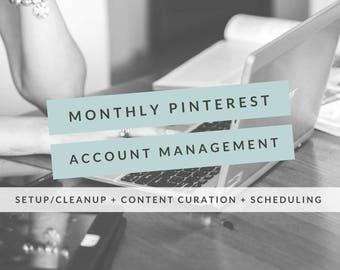 Monthly Pinterest Account Management, Pinterest Board, Pinterest Post, Social Media, Social Media Marketing, Pinterest Management