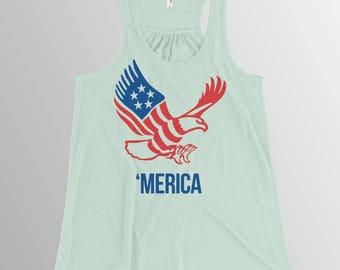 Merica tank 4th of July shirt ladies 'Merica tank top USA shirt Patriotic shirt Merica shirt
