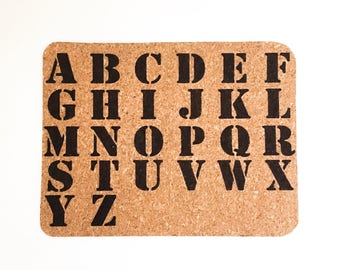 Alphabet Mouse Pad