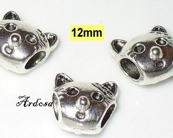 3 module beads 12mm Silver (610.10) CAT