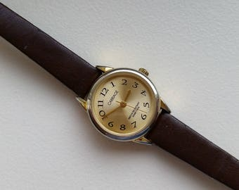 Carriage Gold Tone Watch