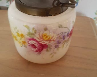 1930S pretty biscuit barrel