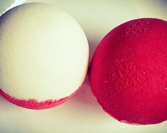 Pokemon pokeball bath bomb.. surprise Pokémon figure inside!  Raspberry lemonade shea butter bath bomb  sale bath bomb