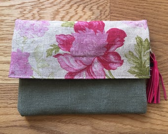 Collection Merida Upcycling fabric linen and canvas army bag