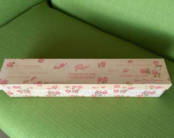 Vintage 60s Polyfab Scented Drawer Lining Yellow and Green Floral Design Karen Carson Creations/Drawer Liners in Pink Floral Box