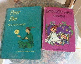 Vintage Books,  Peter Pan and Raggedy Ann, two Great Classics for Children