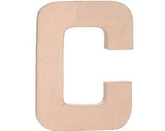 "Paper Mache 12"" Letter C"