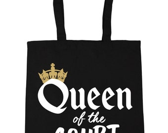 Queen of the Court Tote Shopping Gym Beach Bag 42cm x38cm, 10 litres