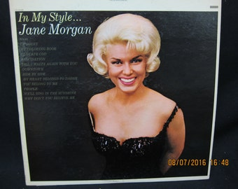 Jane Morgan In My Style - Epic Records