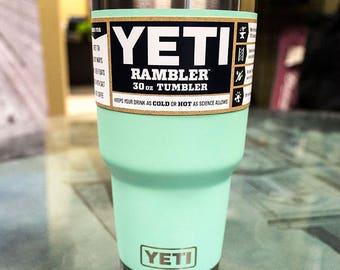 Personalized YETI Tumbler, Engraved Yeti 30oz Tumbler, YETI Rambler, Laser Engraved YETI - Groomsmen Gift - Corporate Gift