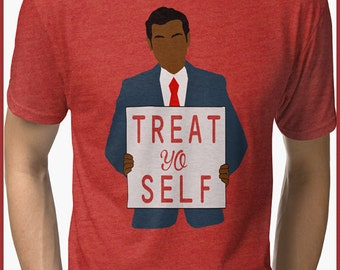 Parks and Recreation Treat Yo Self  Tri-blend T-Shirt
