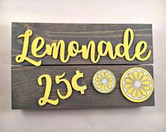 Lemonade 25 cents sign, Lemonade stand, Summer sign, Yard sign, Bar sign, Drink sign, Drink your lemonade, backyard summer, summer barbeque