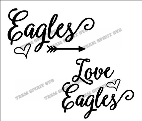 Love Eagles Script SVG, DXF, EPS, Silhouette Studio
