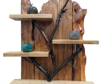 Accents,Shelves,storage,Wood Shelves,Handmade,Hand crafted,Branches,Natural Branches wall shelf