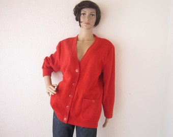 Vintage 80s Cardigan Cardigan Lucia Germany Wool Cardigan