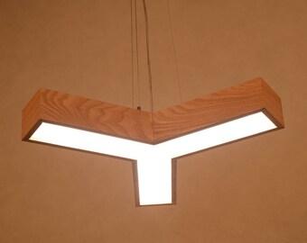 Acrylic and Oak LED 18W Pendant Lighting,Moeder Led Lamps,Ceiling Lighting,Lighting LED fixtures,Room droplight.Office Lighting,Hanging Lamp