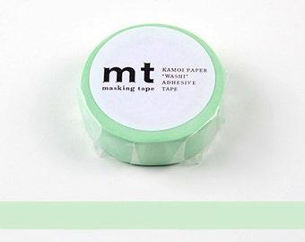 Mint Green MT washi Tape, Washi Tape from Japan, MT Masking Tape, Kawaii Tape, Minimalist washi tape, Cute planner tape, pastel tape