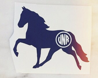 Tennesee Walking Horse Monogram Decal - equestrian sticker