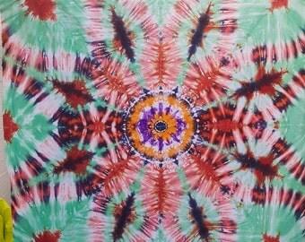 Rayon Tie Dye Mandala Mural 110 x 125 cm