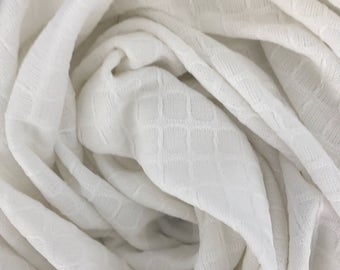 Receiving blanket Swaddle blanket Knit blanket Baby shower gift White blanket Gender nuetral Baby blanket