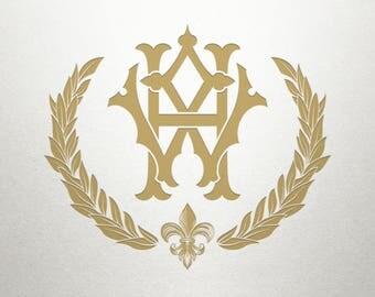 Monogram Laurel Design  - New Orleans Laurel -  Laurel Design - Digital