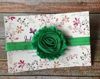 Green Headband/Green Baby Headband/St. Patrick's Day Headband/St. Patty's Day Headband/Newborn Headband/Baby Headband/Infant Headband/Baby