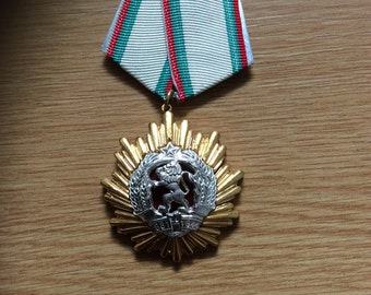 Order of the Peoples Republic of Bulgaria 1st Class.