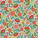 Ecru Floral Cotton Fabric from the Pieceful Gathering Collection by Studio e Fabrics