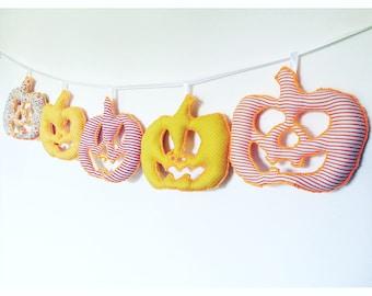 Halloween bunting, pumpkin bunting, halloween decor, pumpkin decor, gifts for kids, halloween party, halloween gifts, halloween home decor