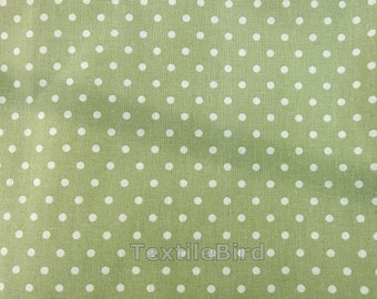 Nature poka dots on green base coloir - 150 cm wide