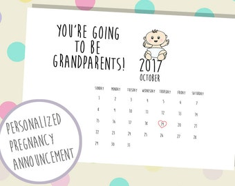 Pregnancy Reveal to Grandparents, Baby Announcement Grandparent, Pregnancy Announcement Grandparents, Announcement for Grandparents