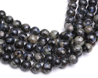 Grey Opal Smooth Round Gemstone Loose Beads 15.5 Inch per Strand, Size 6mm/8mm/10mm.R-S-OPA-0324