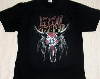 Lynyrd Skynyrd Goat Skull, T-shirt 100% Cotton
